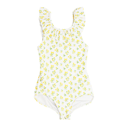 girl's lemon drop ruffle collar one piece