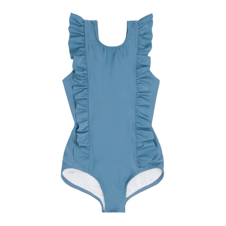 girls marine ruffle one piece