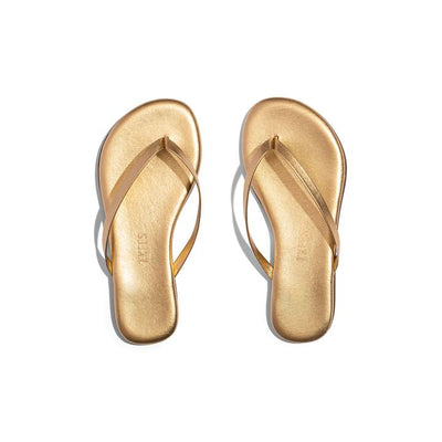 mini metallic flip flops