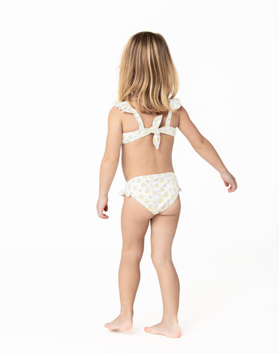 girl's lemon drop tie back bikini