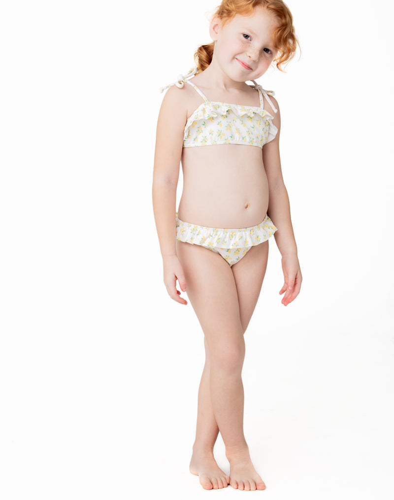 girl's lemon drop bandeau bikini