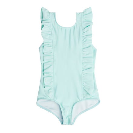 Girl's Soft Mint Ruffle One Piece