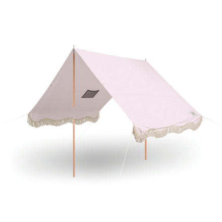 the premium beach tent, pink stripe
