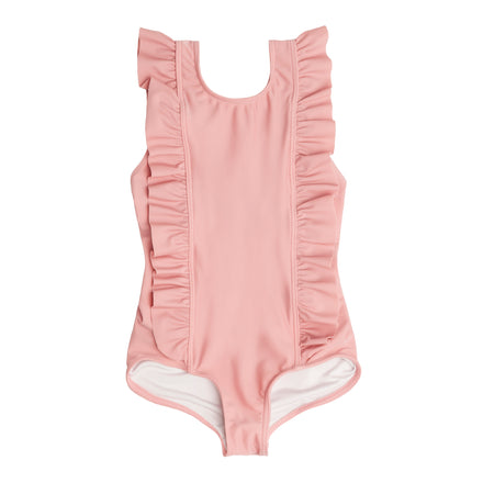 girls rose ruffle one piece