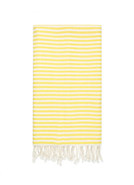 heather taylor home lemon stripe beach towel