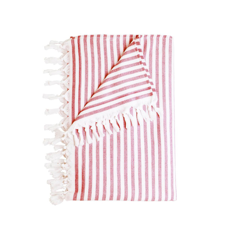 Stripe Beach Towel, Red