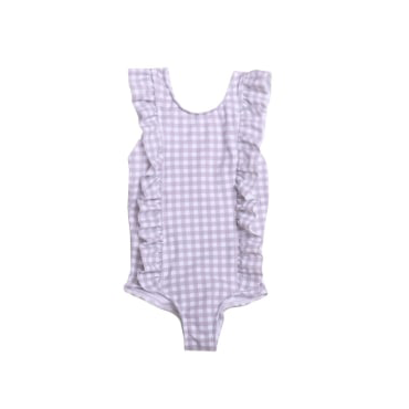 Girl's Gingham Ruffle One Piece