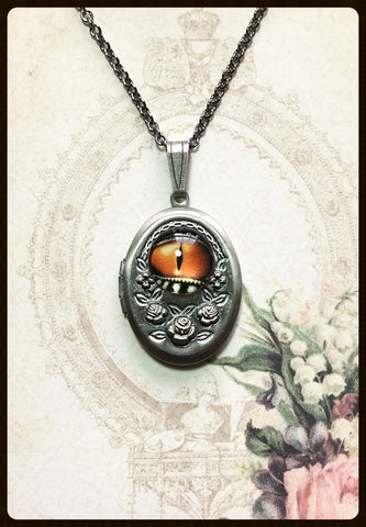 Locket with Lizard Eye