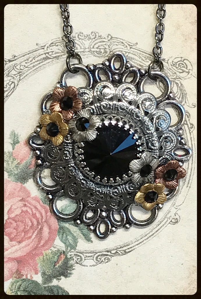 Necklace with 14mm Swarovski® Rivoli Crystal