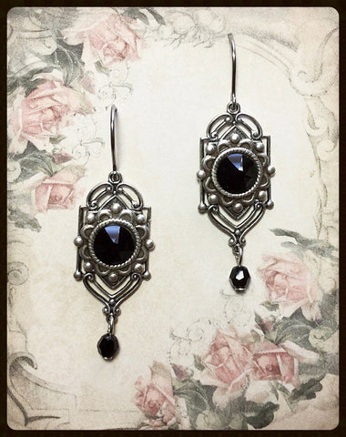 Ornate Crystal Earrings