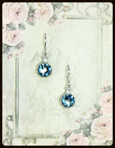 Small Drop Crystal Earrings