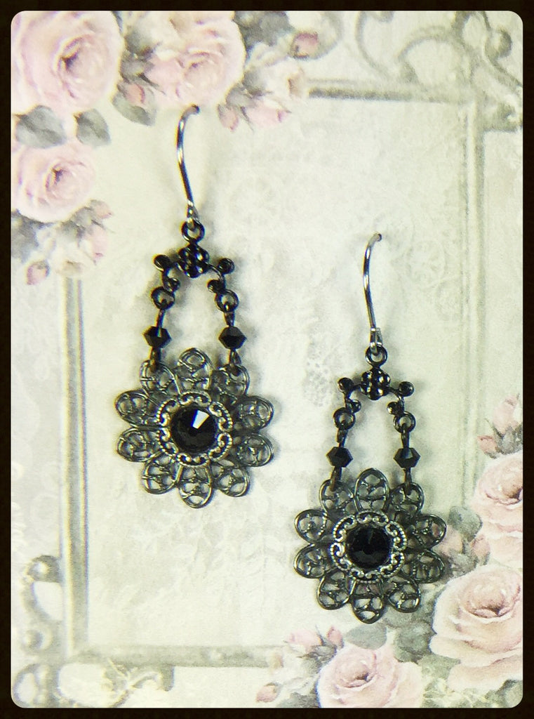 Vintage Style Crystal Earrings
