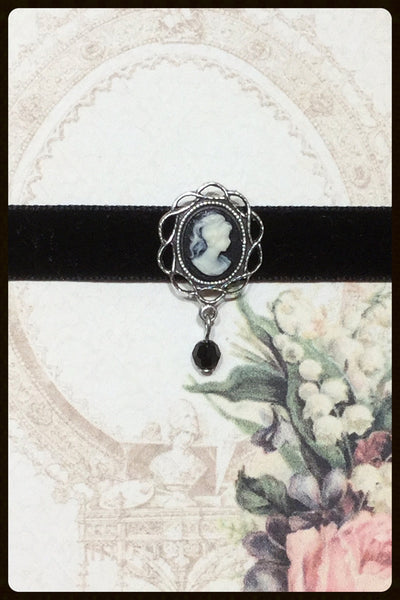 Cameo Choker on Velvet Ribbon
