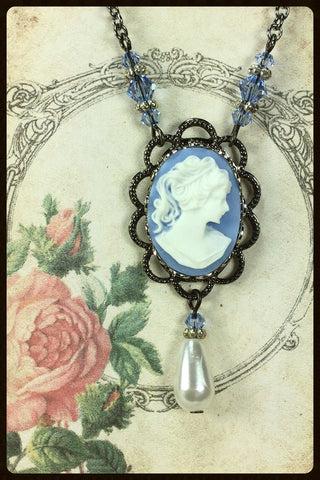 Cameo with Drop Necklace