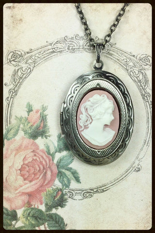 Locket Necklace with Cameo