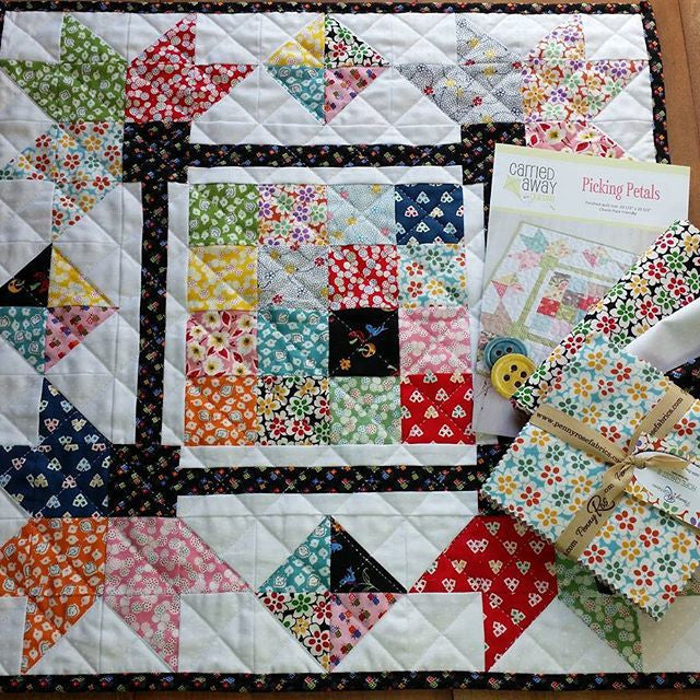 Picking Petals Kit-Mini Quilt-by Taunja Kelvington for Carried Away Quilting with Hope Chest 2 fabric now available!!