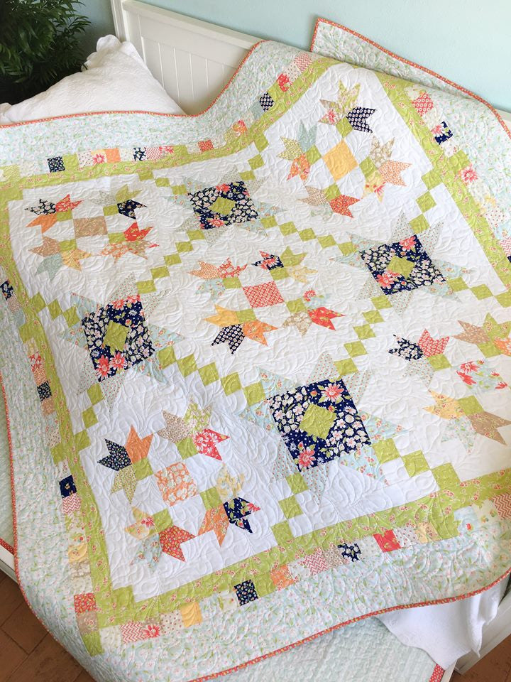 We just love Taunja Kelvington of Carried Away Quilting and her patterns.  New Kit available