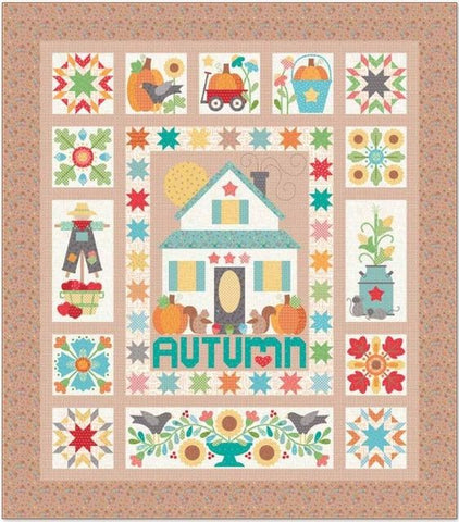 Autumn Love Quilt Kit and Acorn Table Runner by Lori Holt of Bee in My Bonnet Now Available for PreOrder!