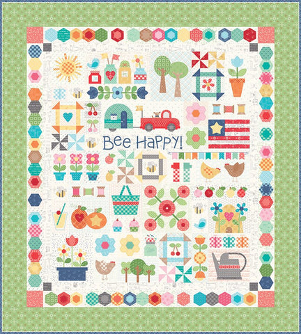 Bee Happy quilt pattern is available for download!
