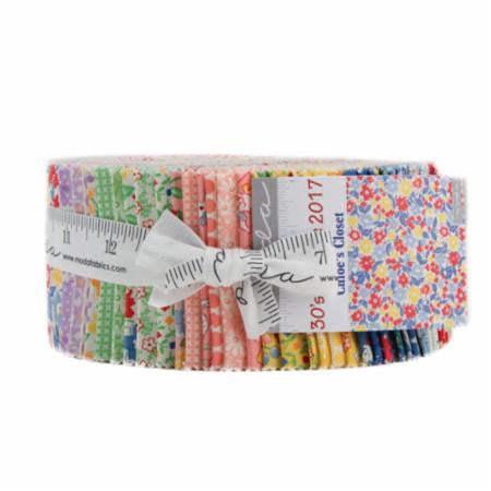 Jelly Rolls and Rolie Polies paired with our Jelly Roll friendly patterns!