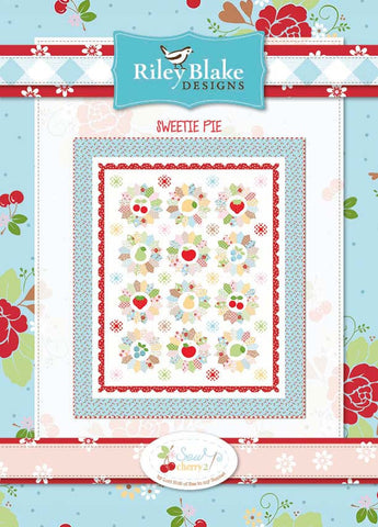 Sweetie Pie Quilt kit with Sew Cherry 2 fabrics by Lori Holt of Bee in My Bonnet