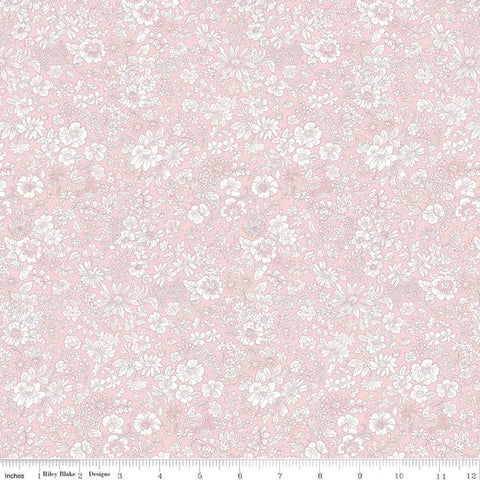 """Flower Show Spring""- Emily Silhouette Flower Pink by Liberty Fabrics"