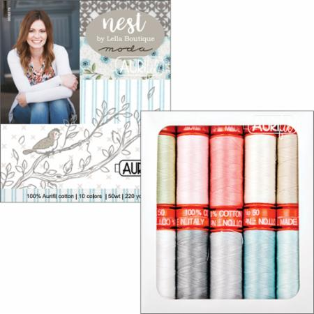 Nest Collection by Lella Boutique, Aurifil Thread Box of 10 Small Spools