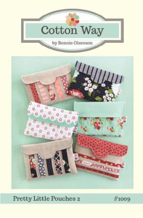 Pretty Little Pouches 2 Pattern by Bonnie Olaveson of Cotton Way, bag