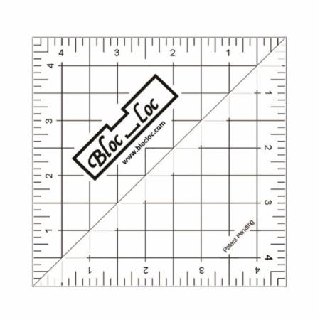 "Half Square Triangle Ruler 4.5"" Bloc Loc"
