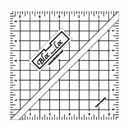 "Half Square Triangle Ruler 5.5"" Bloc Loc"