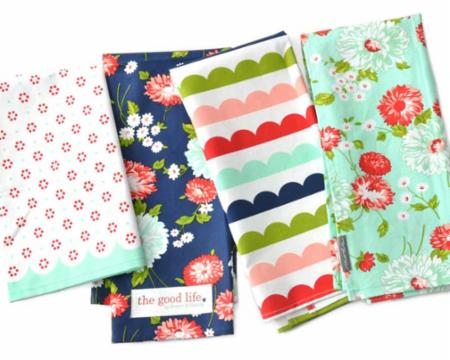 """The Good Life"" Set Of 4 Towels by Bonnie & Camille for Moda"