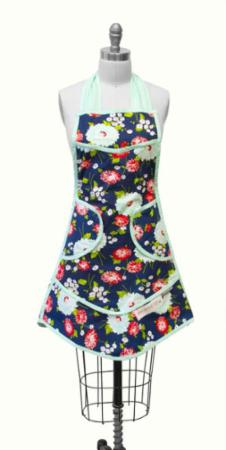 """The Good Life"" The Good Life Apron Navy by Bonnie & Camille for Moda"
