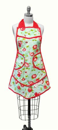 """The Good Life"" The Good Life Apron Aqua by Bonnie & Camille for Moda"