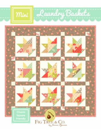 Laundry Baskets Mini Quilt Pattern by Fig Tree & Company