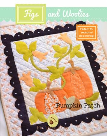"""Figs & Woolies"" Pumpkin Patch Pattern by Fig Tree & Company"