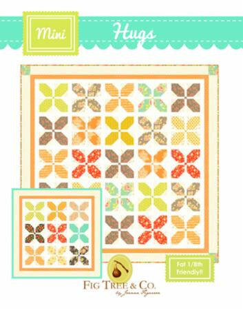 Hugs Mini Quilt Pattern by Fig Tree & Company Fat 1/8 Friendly