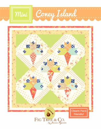 Mini Coney Island Quilt Pattern by Fig Tree & Company Charm Pack Friendly