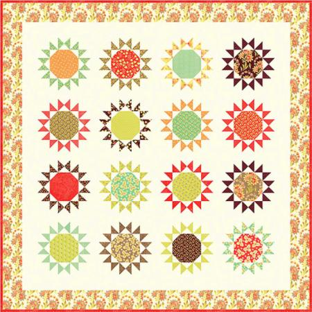 Nutmeg Stars II Quilt Pattern by Fig Tree & Co.