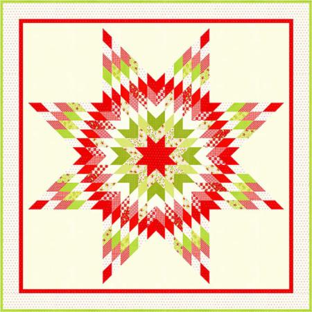 Yuletide Snowflake Quilt Pattern by Fig Tree & Co.