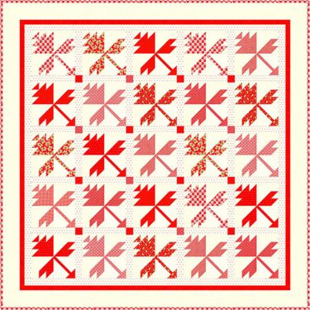 Christmas Flowers Quilt Pattern by Fig Tree & Co.