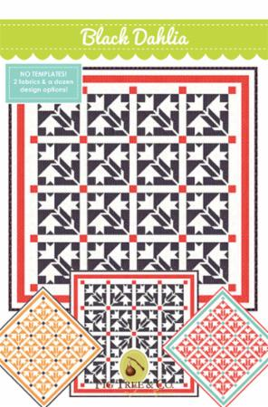 Black Dahlia Quilt Pattern by Fig Tree & Co.