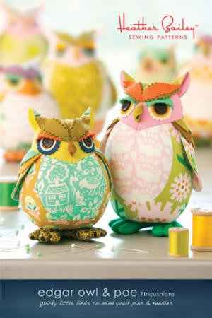 Edgar Owl & Poe Pincushions Pattern by Heather Bailey Sewing Patterns