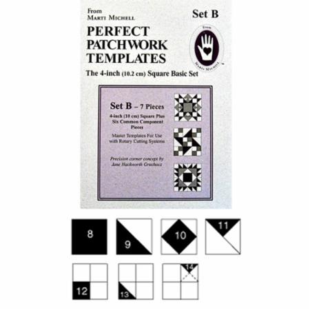 "Basic 4"" Shape Templates Set B from Marti Michell"