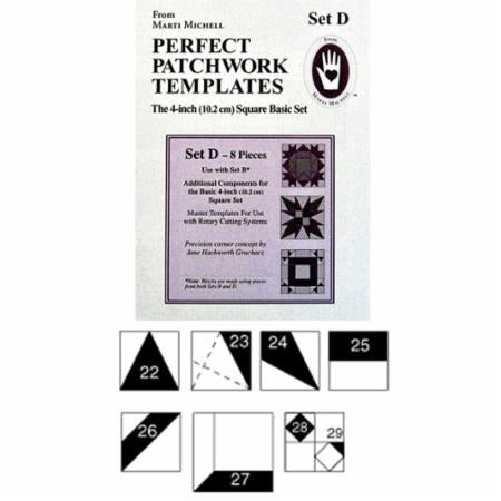 "Basic 4"" Shape Templates Set D from Marti Michell"