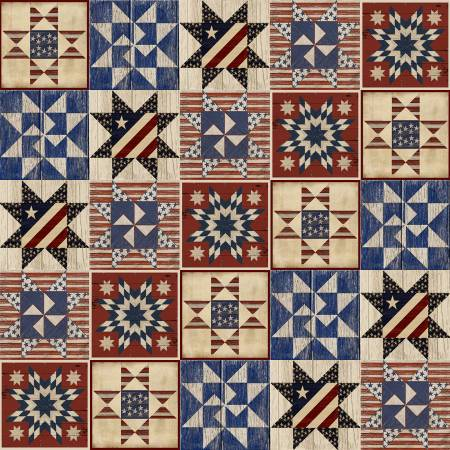 """Patriotic Summer""-Multi Quilts Patriotic by Beth Albert for 3 Wishes Fabric"