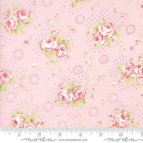 """Floral Petite Bouquet Pink""-Fleurs by Brenda Riddle for Moda"