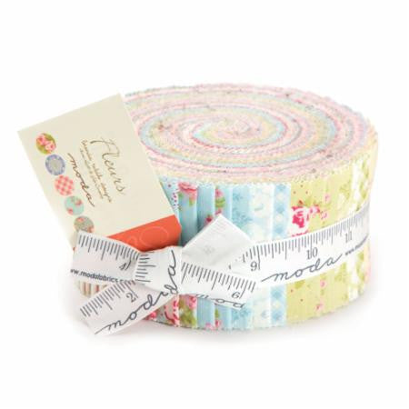 Fleurs Jelly Roll by Brenda Riddle for Moda