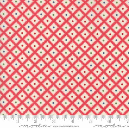 """Hop Skip and a Jump""- Picnic Basket Red Strawberry by American Jane for Moda"