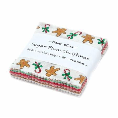 Sugar Plum Christmas Mini Charm 42pcs by Bunny Hill Designs