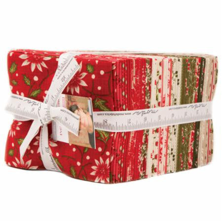 Petites Maisons De Noel Fat Quarter Bundle by French General for Moda